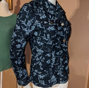 Nwt Denim floral jacket